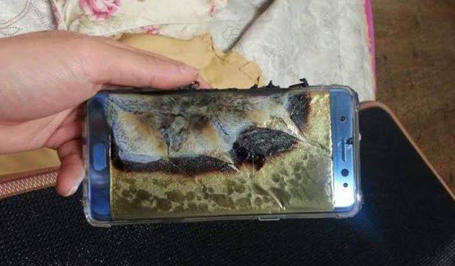 Một chiếc Note 7 bị phá hủy bởi sự cố nổ pin.