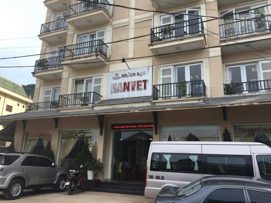 Khách sạn Hanvet, thị trấn Tam Đảo-nơi đang diễn ra cuộc họp của Hội đồng tiền lương Quốc gia bàn phương án tăng lương tối thiểu vùng năm 2017 cho người lao động-ảnh: Văn Duẩn.