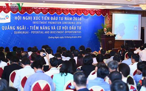 'Hội nghị xúc tiến đầu tư vào tỉnh Quảng Ngãi'