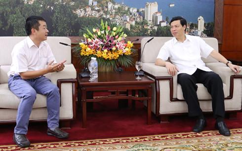 Phóng viên VOV phỏng vấn Chủ tịch UBND tỉnh Quảng Ninh về nội dung thu hút đầu tư xây dựng tuyến đường cao tốc Vân Đồn - Móng Cái.