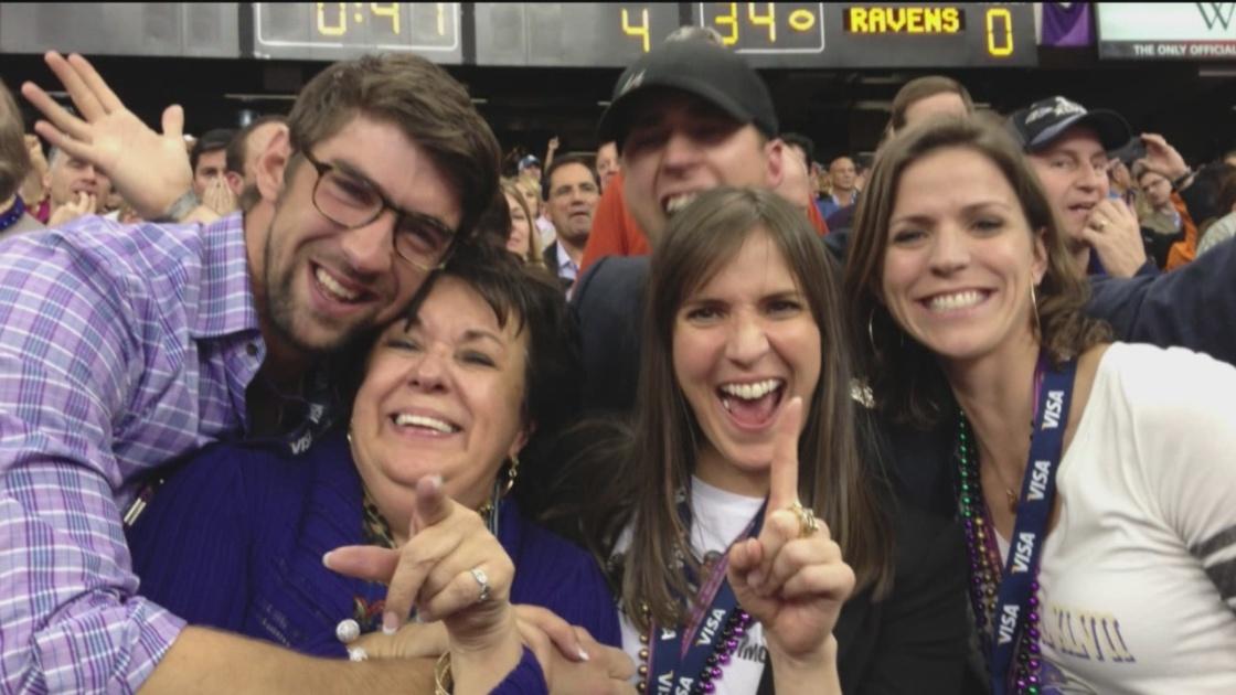 Michael Phelps và gia đình của mình.