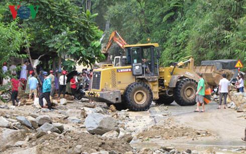 Hiện tại, công tác khắc phục hậu quả mưa lũ đang được tỉnh Lào Cai đẩy mạnh.