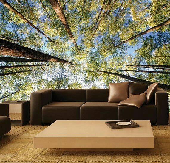 Mẫu giấy dán tường này sẽ làm hài lòng những ai thích hòa mình vào thiên nhiên, cây cỏ.