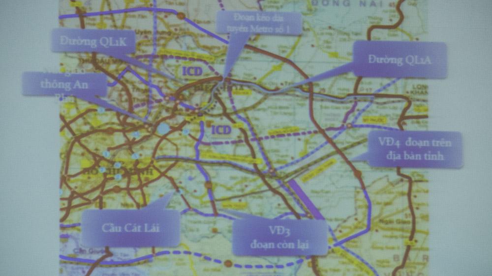 Bản đồ kết nối giao thông Vùng kinh tế trọng điểm phía Nam