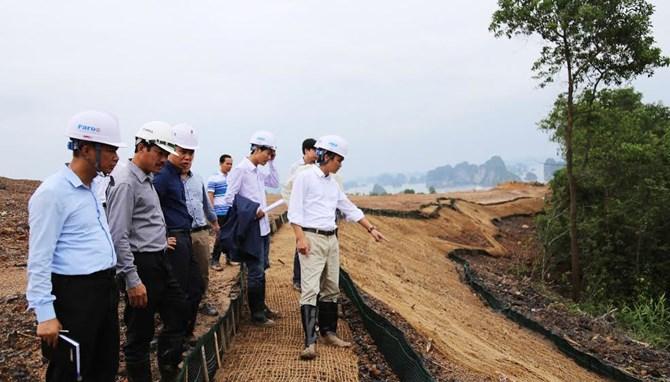 Chủ tịch Tập đoàn FLC thị sát công trường dự án FLC Hạ Long.