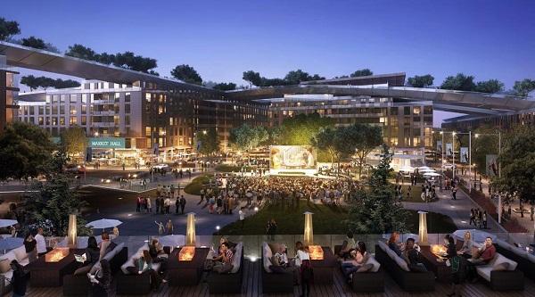 """Ước tính một mái nhà xanh trị giá 300 triệu USD sẽ được phủ lên """"The Hills at Vallco""""."""