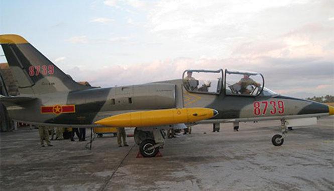 Chiếc máy bay loại L39 tại Trung đoàn 910 Trường Sĩ quan Không quân - Ảnh: QDND.com