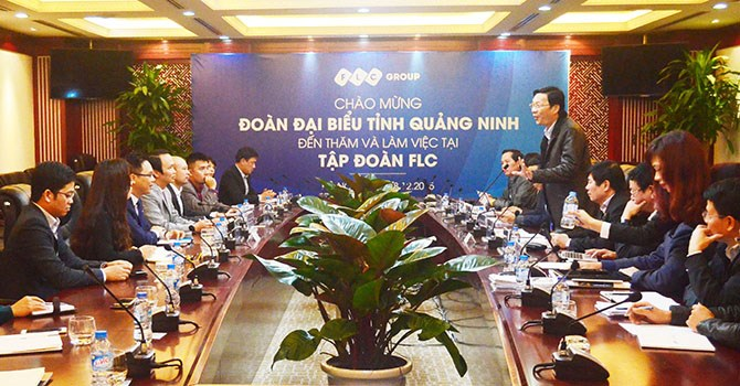 Thường vụ Tỉnh ủy Quảng Ninh ra thăm và làm việc tại Tập đoàn FLC