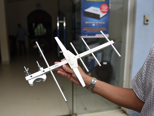 Anten thương hiệu Dunals được bán khá phổ biến ở thị trường Hà Nội.