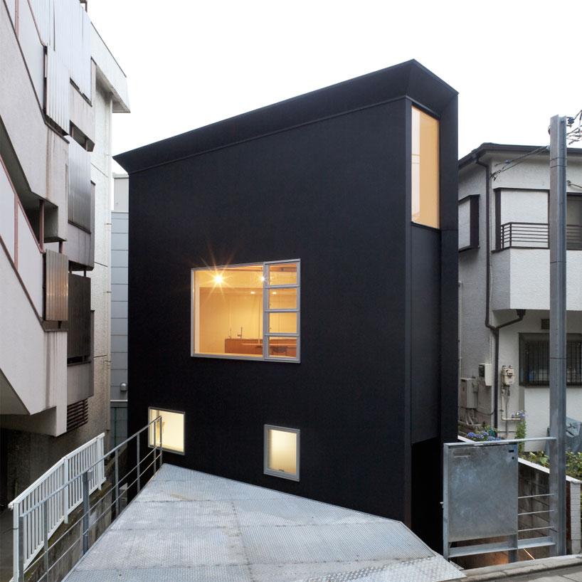 Ngôi nhà Nhật Bản có hình dạng kỳ lạ.