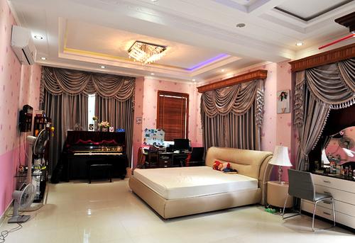 Phòng dành riêng cho con gái lớn của Trang Nhung vô cùng nữ tính với gam màu hồng.