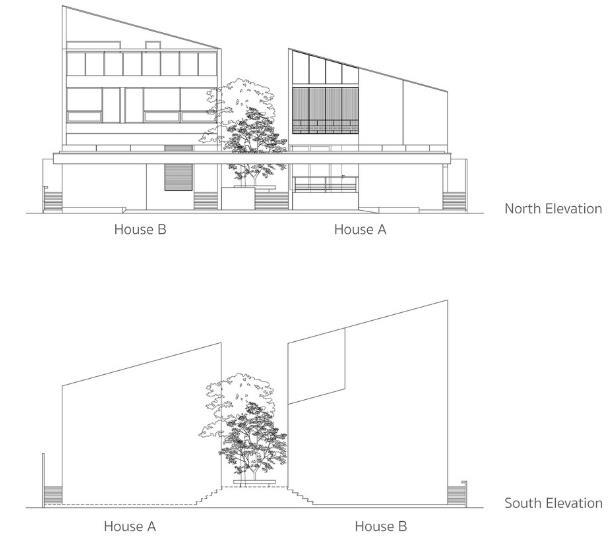 Sơ đồ mô hình ngôi nhà Twin House.
