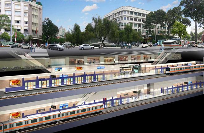 Phối cảnh nhà ga trong tương lai. Ảnh: Ban quản lý dự án đường sắt
