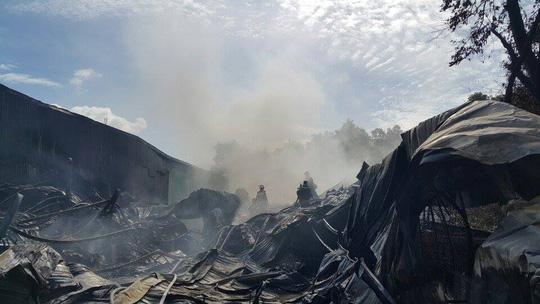 Được biết kho phế liệu chứa nhiều vật dụng dễ cháy, nên chỉ sau 1 giờ đám cháy đã thiêu rụi hoàn toàn kho chứa gần 1.000 m2, thiệt hại ban đầu ước tính khoảng 1,7 tỉ đồng.
