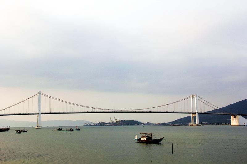 Cầu Thuận Phước ở cửa vịnh Đà Nẵng
