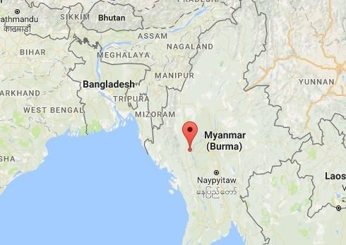 Vị trí xảy ra trận động đất (điểm màu đỏ). Đồ họa: Google Maps.