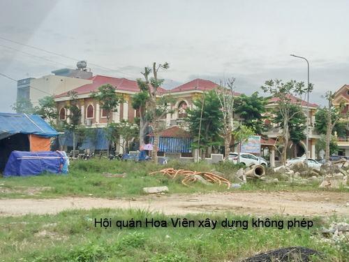 Hội quán hoa viên của bầu Đệ xây dựng không phép (ảnh: Báo Xây dựng).