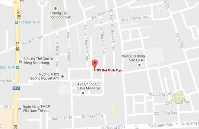 Vị trí gần nơi xảy ra vụ cháy. Ảnh: Google map