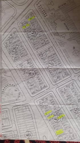 Bản sơ đồ giao đất tái định cư mặt tiền nhà CCB Phạm Quang Phiệu là vườn hoa, tiểu cảnh, nay nhà cửa ken kín mặt đất