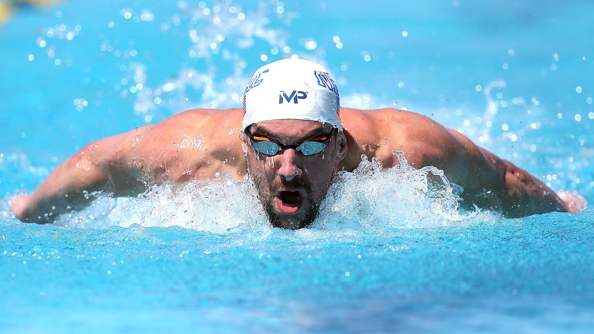 Huyền thoại Michael Phelps.