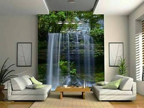 Giúp bạn tận hưởng cảm giác có một thác nước chảy róc rách ngay trong phòng khách nhà mình.