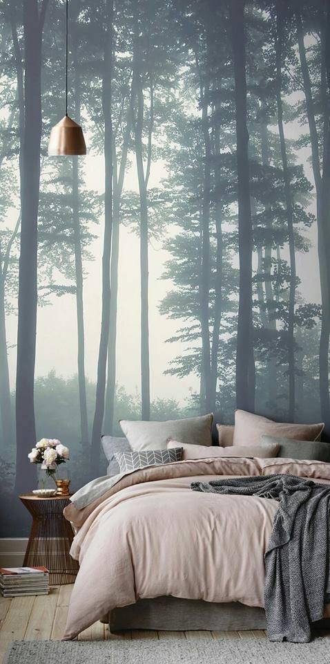 Bức tranh này đã không còn sự ngăn cách giữa con người với thiên nhiên. Một không gian trong lành sẽ mang lại cho bạn giấc ngủ sâu nhất.