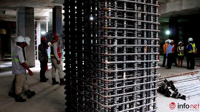 Lõi thép của những cọc bê tông trong công trình