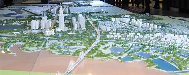 Siêu đô thị sẽ hình thành bên kia cầu Nhật Tân với điểm nhấn là tháp tài chính 108 tầng