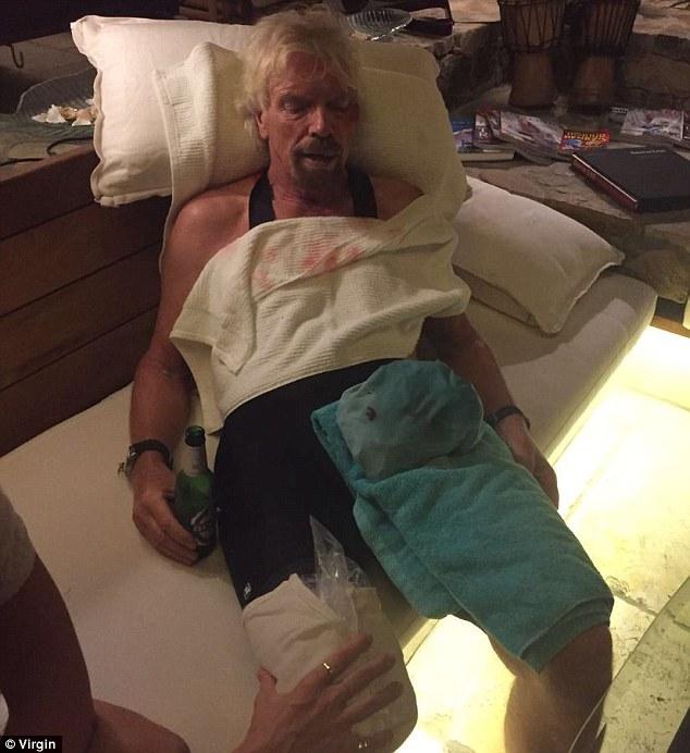Dù gặp vận rủi nhưng may mắn vẫn mỉm cười với tỷ phú có tiếng lập dị Branson. Những vết thương trên cơ thể ông không quá nặng nên ông nhanh chóng phục hồi sau đó. Ảnh: Virgin