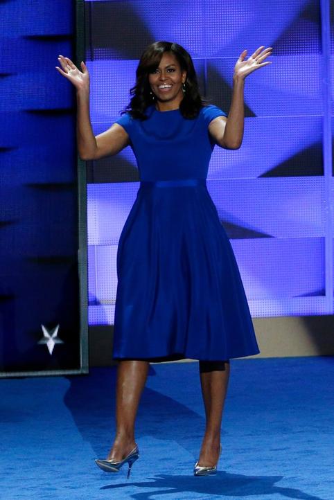Đệ nhất Phu nhân Obama trong trang phục của nhà thiết kế Christian Siriano.