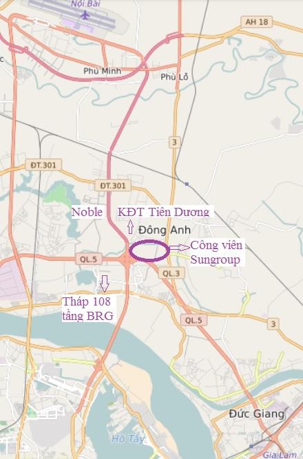Bắt đầu lộ diện các siêu dự án hàng nghìn tỷ đồng hai bên đường gần cầu Nhật Tân