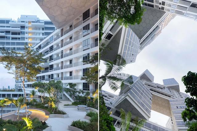 The Interlace là công trình nhà chung cư quần tụ, tạo cảm giác như thể một ngôi làng với nét kiến trúc hiện đại, tôn trọng sự phát triển xanh, bền vững.