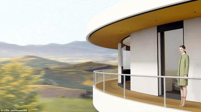 doc dao ngoi nha co the tu xoay 360 do Ngắm nhìn vẻ đẹp độc đáo ngôi nhà có thể tự xoay 360 độ