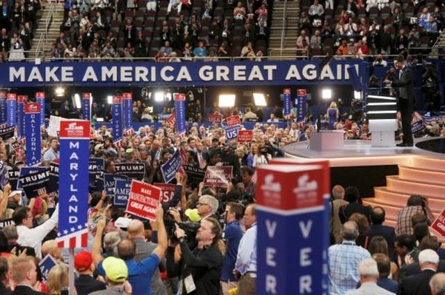 Chủ tịch Hạ viện Mỹ Paul Ryan phát biểu tại đại hội Đảng Cộng hòa ngày 19/7 - Ảnh: Reuters.