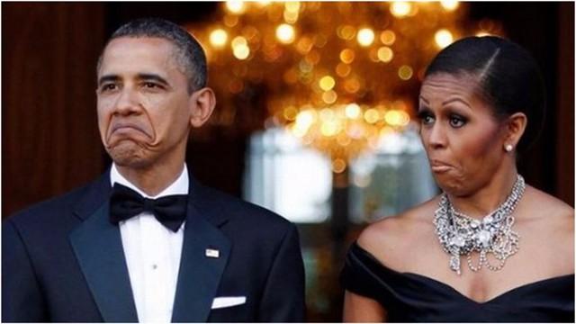Khoảnh khắc bất hủ của cặp đôi quyền lực nhất Nhà Trắng: Tổng thống Barack Obama và vợ Michael Obama.