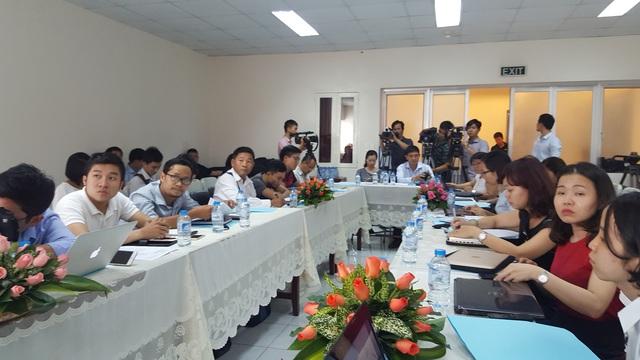 Quan cảnh buổi họp báo với rất nhiều cơ quan báo chí tại TP.HCM