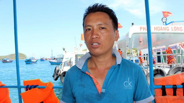 Anh Nguyễn Văn Hải, người chứng kiến và cứu nạn các nạn nhân - Ảnh: MINH TRÂN