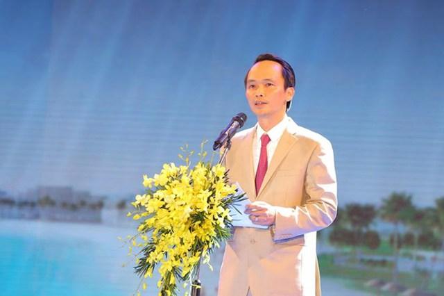 Ông Trịnh Văn Quyết – Chủ tịch HĐQT Tập đoàn FLC phát biểu tuyên bố khánh thành Quần thể Du lịch nghỉ dưỡng sinh thái FLC Quy Nhơn.