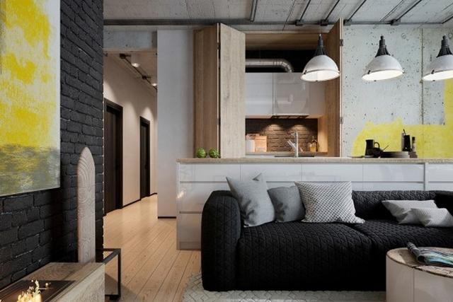 Đen - trắng - xám là 3 tông màu chính hòa quyện với sắc trung tính của tường và gỗ lát.