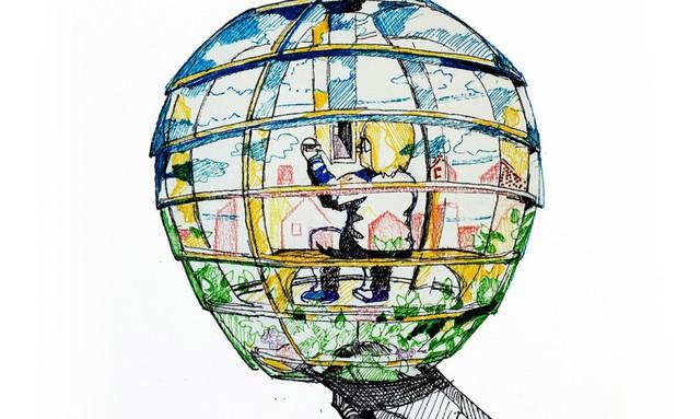 Nơi làm việc lý tưởng này còn được trang bị một chiếc kính viễn vọng giúp con người có thể dễ dàng nhìn toàn cảnh xung quanh.