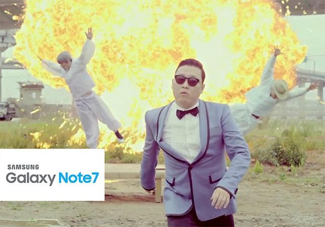 Đoạn phát nổ trong ca khúc Gangnam Style cực phù hợp cho quảng cáo chiếc điện thoại mới của Samsung.