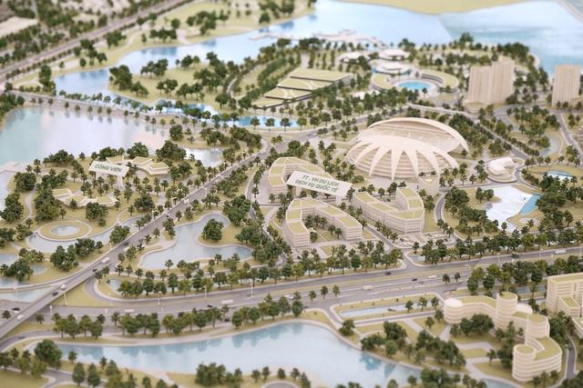 Đây cũng sẽ là một khu kiến trúc phức hợp theo mô hình của một thành phố hiện đại với trung tâm tài chính quốc tế, làng văn hóa ASEAN, khu vực hội chợ, các trung tâm văn hóa, thương mại và các trung tâm hội nghị quy mô, tầm cỡ. Tất cả các hợp phần này được đặt nằm dọc trên phía Bắc Sông Hồng.