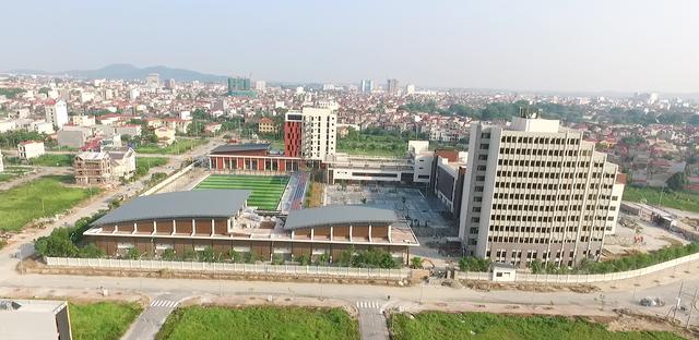 Một góc ngôi trường hiện đại nhìn từ trên cao