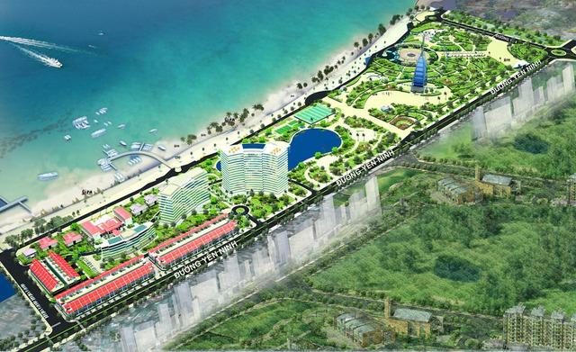 Dự án khu đô thị biển Bình Sơn sau nhiều năm bất động, cuối tháng 8 vừa qua đã tái khởi động.