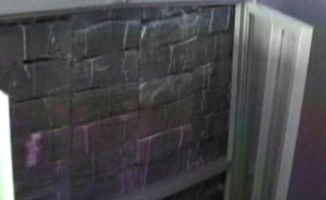 Bức tường được tạo thành từ những xấp tiền trong ngôi nhà của Zhenli. Hình ảnh về hơn 205 triệu USD mà nhà chức trách Mexico thu giữ năm 2007 mới được công bố trong đoạn băng video chất lượng thấp. Các nhân chứng đều từ chối vạch tội Zhenli nên phiên toà xử y tại Mỹ đổ bể năm 2009. Từ đó tới nay, Zhenli bị giam trong một nhà tù ở Virginia. Ảnh: Reuters