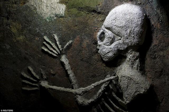 Thậm chí còn có cả hình ảnh bộ xương người.
