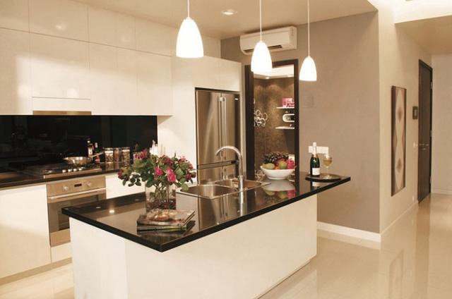 Phòng bếp được thiết kế vô cùng sang trọng và đầy đủ tiện nghi.