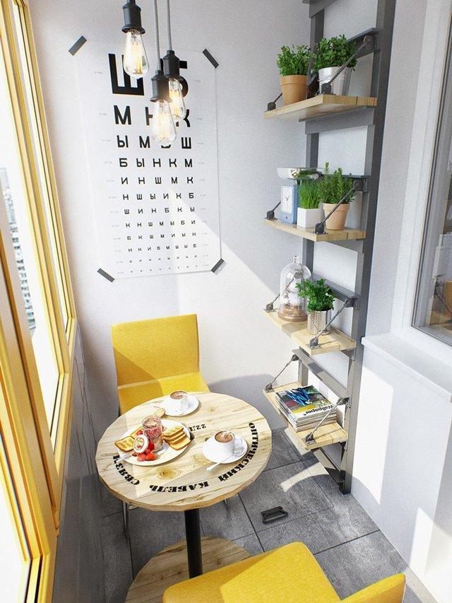 Đây là không giản lý tưởng vừa để ăn sáng, đọc sách và nghỉ ngơi thư giãn.