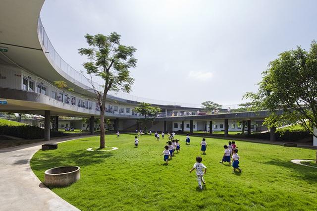 Đây là không gian vui chơi, học tập vô cùng an toàn và thoáng mát cho trẻ