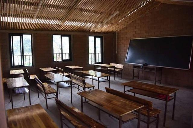 Lớp học được trang bị đầy đủ, cơ sở vật chất khang trang. Ảnh: Facebook nhà báo Trần Đăng Tuấn